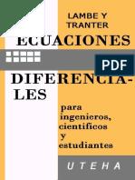 Ecuaciones diferenciales para ingenieros, científicos y estudiantes - C. G. Lambe-LIBROSVIRTUAL.COM.pdf