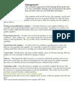 What is Procurement Management.doc