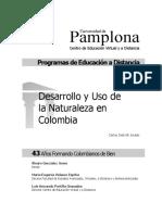 Desarrollo y Uso de La Naturaleza en Colombia