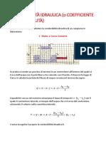 Conducibilità Idraulica (Geotecnica)