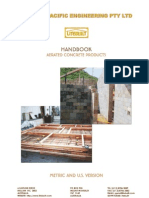 Litebuilt-Pan Pacific Engineering Handbook on Aerated Concrete Products