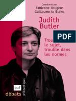 (Débats Philosophiques) Fabienne Brugère-Judith Butler, Trouble Dans Le Sujet, Trouble Dans Les Normes-Presses Universitaires France (2009)