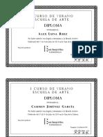 Diploma Curso de Arte II Quincena