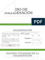 Proceso de Halogenación