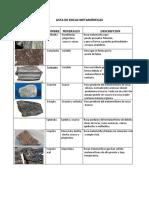 237716608 Lista de Rocas Metamorficas