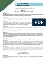 Ley Nº 117-1991 - De Inversiones