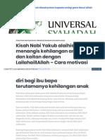Universalsyahadah Wordpress Com 2018-01-31 Kisah Nabi Yakub