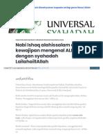 Universalsyahadah Wordpress Com 2018-01-30 Nabi Ishaq Alahis