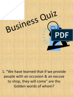 Business Quiz Ppt