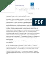 Carlos Altamirano - Historia Politica a Historia Intelectual
