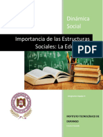 Importancia de Las Estructuras Sociales, La Educacion