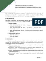 ETS - 012 - Alinhamento, Nivelamento e Socaria de Lastro de Linha