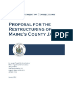 Proposal for the Restructuring of Maine's County Jails