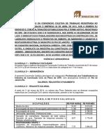 Convenção Coletiva de Trabalho 2014 - Rj