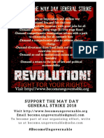 Support the May Day General Strike Print Flyer
