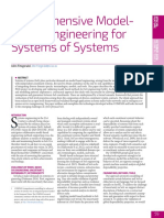 Comprehensive Model-based Engineering for Systems of Systems 2016