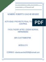 Proyecto Final Planeacion y Control Roberto Canche Mendez