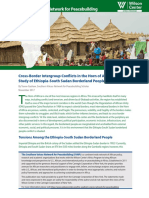 Cross-Border Intergroup Conflicts in the Horn of Africa a Case Study of Ethiopia-South Sudan Borderland People