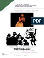 Teatro de La Sensacion Taller de Cuentos .El Arte de Narrar Historias.contar Con El Otro