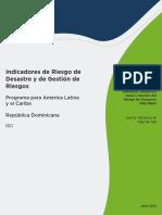 Indicadores Riesgo Desastre Gestion Riesgos Republica Dominicana