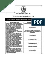 Calendario de Obligaciones Notariales