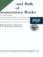 Porosity and Bulk Density of Sedimentary Rocks