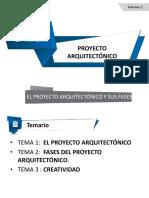 El Proyecto Arquitectónico