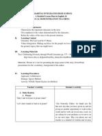 Detailed lesson plan (Grade 10)