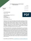 Carta de la Junta sobre el plan fiscal del gobierno central