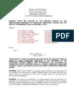 Barangay Resolution OPENING BANK ACCOUNT
