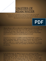 Qualities of Zamzam Water