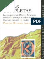 Areopagita Dionisio - Obras Completas-proc
