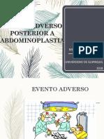 Evento Adverso Posterior a Abdominoplastia