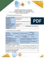 Guía de actividades y Rúbrica de evaluación - Fase 1 - Reconocimiento del Curso