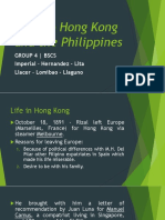 Rizal Chapter 18 (Back to Hong Kong and Philippines)
