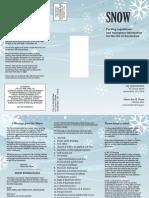 Snow brochure