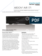 Specification Sheet - AVR 171 (English)