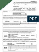 Formato Reclamo Pago Indebido o Solicitud Devolución Pago en Exceso Por Impuesto a La Renta Persona Naturales No Obligadas - Formulario 701