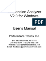 Suspension Analyzer Manual