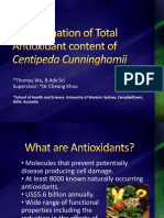 Determination of Total Antioxidant Content of Centipeda Cunninghamii