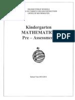 Revised Kindergarten Math Assessment