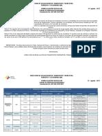 Listado de Vehculos Homologados 31 de Agosto 2017