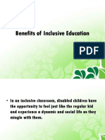 Benefits and Barriers of Inclusive Education