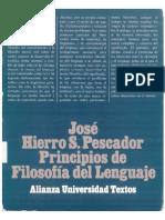 127584881 Principios de Filosofia Del Lenguaje Jose Hierro