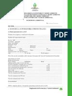 Formulario Manifiesto Ambiental
