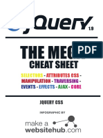 Jquery Mega Cheat Sheet Printable
