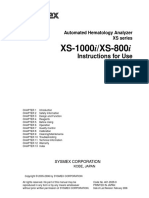 Sysmex Xs-800i1000i Instructions for Use  user's manual