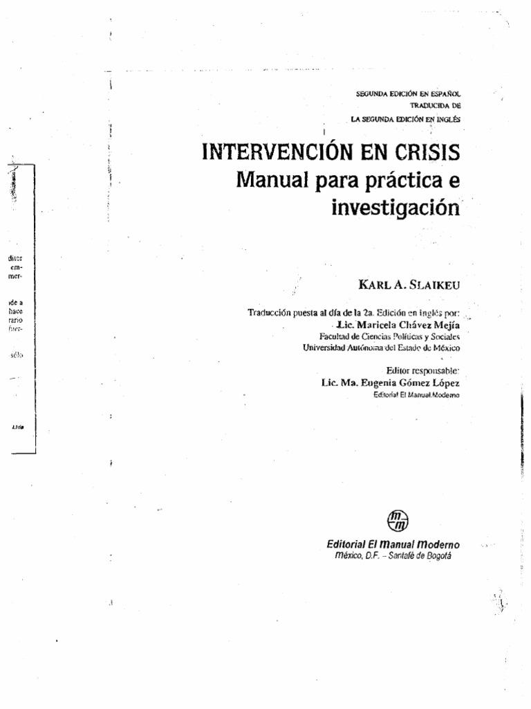 Intervención en Crisis (2da Ed.), Karl a. Slaikeu.compressed1111