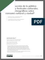 La construcción de lo público en ferias y festivales culturales. Apuntes etnográficos sobre consumo cultural y ciudad