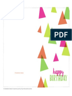 Birthday Card Party Hats 5x7 in Newsletter